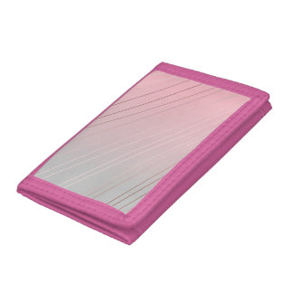 Elegant rose gold, pink & grey gradient ombre trifold wallet