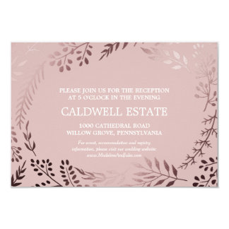 Elegant Rose Gold & Pink Wedding Reception Insert Card