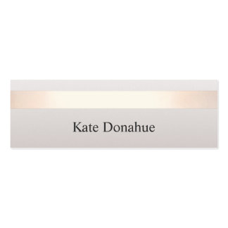 Elegant Rose Gold Striped Modern Stylish Gray Double-Sided Mini Business Cards (Pack Of 20)