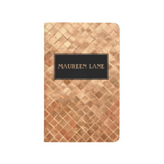 Elegant Rose Gold Tile Pattern Custom Journal