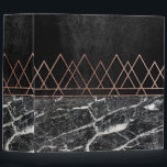 """Elegant Rose Gold Triangles &amp; Black &amp; White Marble 3 Ring Binder<br><div class=""""desc"""">This elegant and chic faux printed rose gold geometric triangles pattern with black and white marble print is perfect for the trendy and stylish woman. It&#39;s pretty and modern print is great for many gifts and occasions. Enjoy this sleek and fashionable design for your next purchase!</div>"""