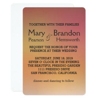 Elegant Rose Gold Watercolor Wedding Card