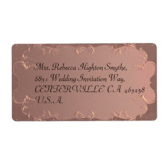 Elegant Rose Gold Wedding Address Labels