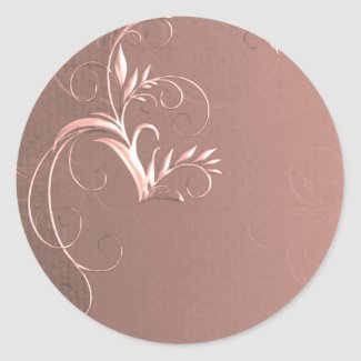Elegant Rose Gold Wedding Envelope Seals