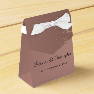 Elegant Rose Gold Wedding Favor Box