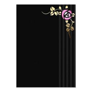 Elegant Rose Gothic Lolita Sweet 16 Invitation