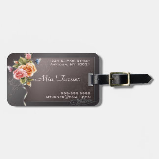 Elegant Rose Luggage Tag
