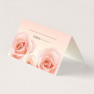 Elegant Rose Painting Table Place Cards