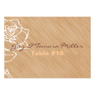 Elegant Rose Table Setting Cards Business Card Template