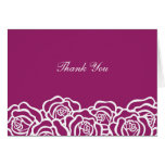 Elegant Rose Thank You Card