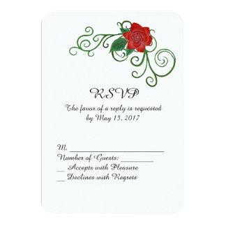 Elegant Rose Wedding RSVP card