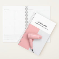 Elegant Rose White Hair Dryer Hair Stylist Planner
