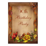 Elegant Roses & Butterfly 90th Birthday Party 5x7 Paper Invitation Card