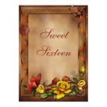 Elegant Roses & Butterfly Sweet 16 5x7 Paper Invitation Card