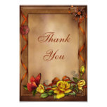 Elegant Roses & Butterfly Wedding Thank You Card