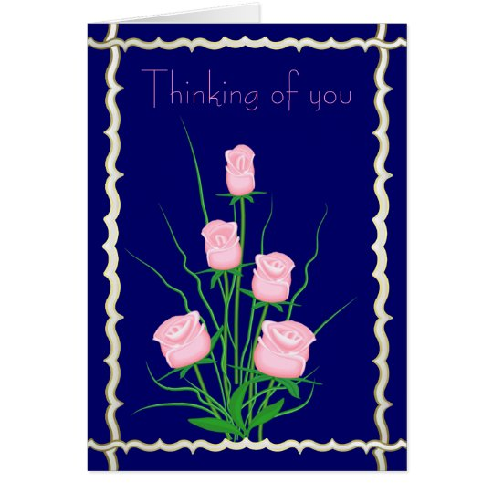 Elegant roses card