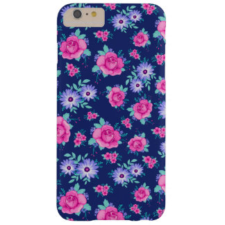 Elegant Roses Floral Pink Purple Blue Pattern Barely There iPhone 6 Plus Case