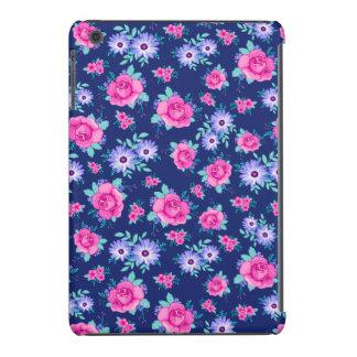 Elegant Roses Floral Pink Purple Blue Pattern iPad Mini Retina Cases
