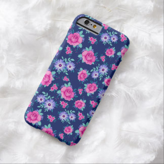 Elegant Roses Floral Pink Purple Blue Pattern iPhone 6 Case