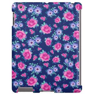 Elegant Roses Floral Pink Purple Blue Pattern