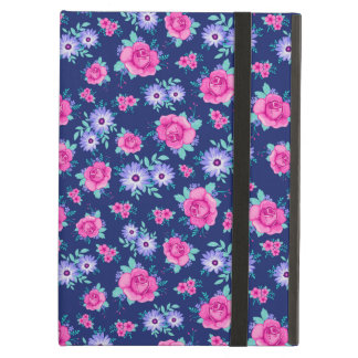 Elegant Roses Floral Pink Purple Blue Pattern Case For iPad Air