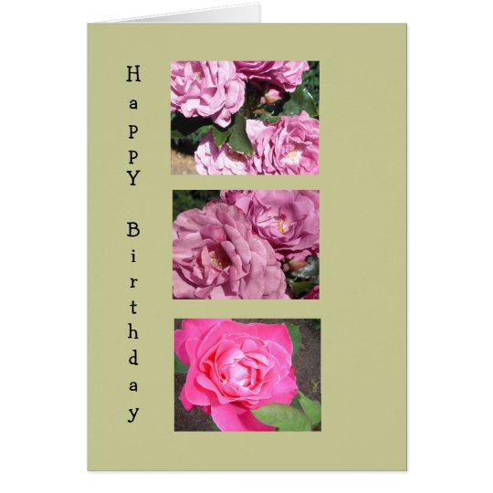 Elegant Roses for a Birthday Card