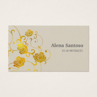 Elegant Roses Gold Business Card