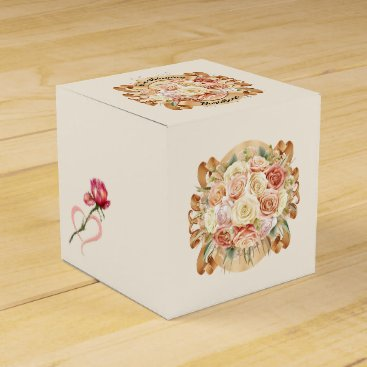 Professional Business Elegant Roses Small Favor / Gift Box