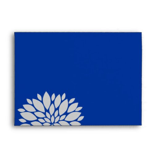 elegant royal blue and silver gray floral burst envelopes zazzle. Black Bedroom Furniture Sets. Home Design Ideas