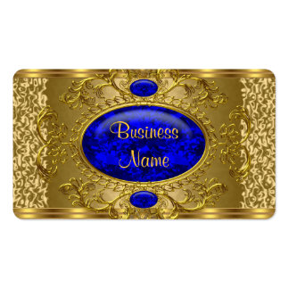 Elegant Royal Blue Gold Business Card