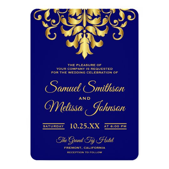 Royal Blue Wedding Invitation Cards: Royal Blue Navy Gold Prince Baby Shower Ethnic Card