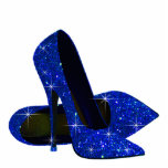 "Elegant Royal Blue High Heel Shoes Statuette<br><div class=""desc"">Elegant royal blue high heel shoe photo sculpture. You can choose your style, size, quantity and product type by choosing the customize it button to begin. Please note - all of the designs you will find on Zazzle are printed graphics with no actual glitter, jewels, bows, raised, embossed, or added...</div>"