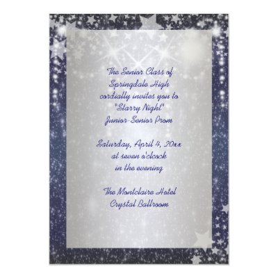 Starry night prom invitations zazzle stopboris Image collections