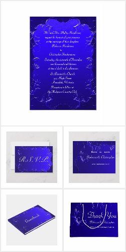 Elegant Royal Blue Wedding