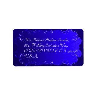 Elegant Royal Blue Wedding Address Labels