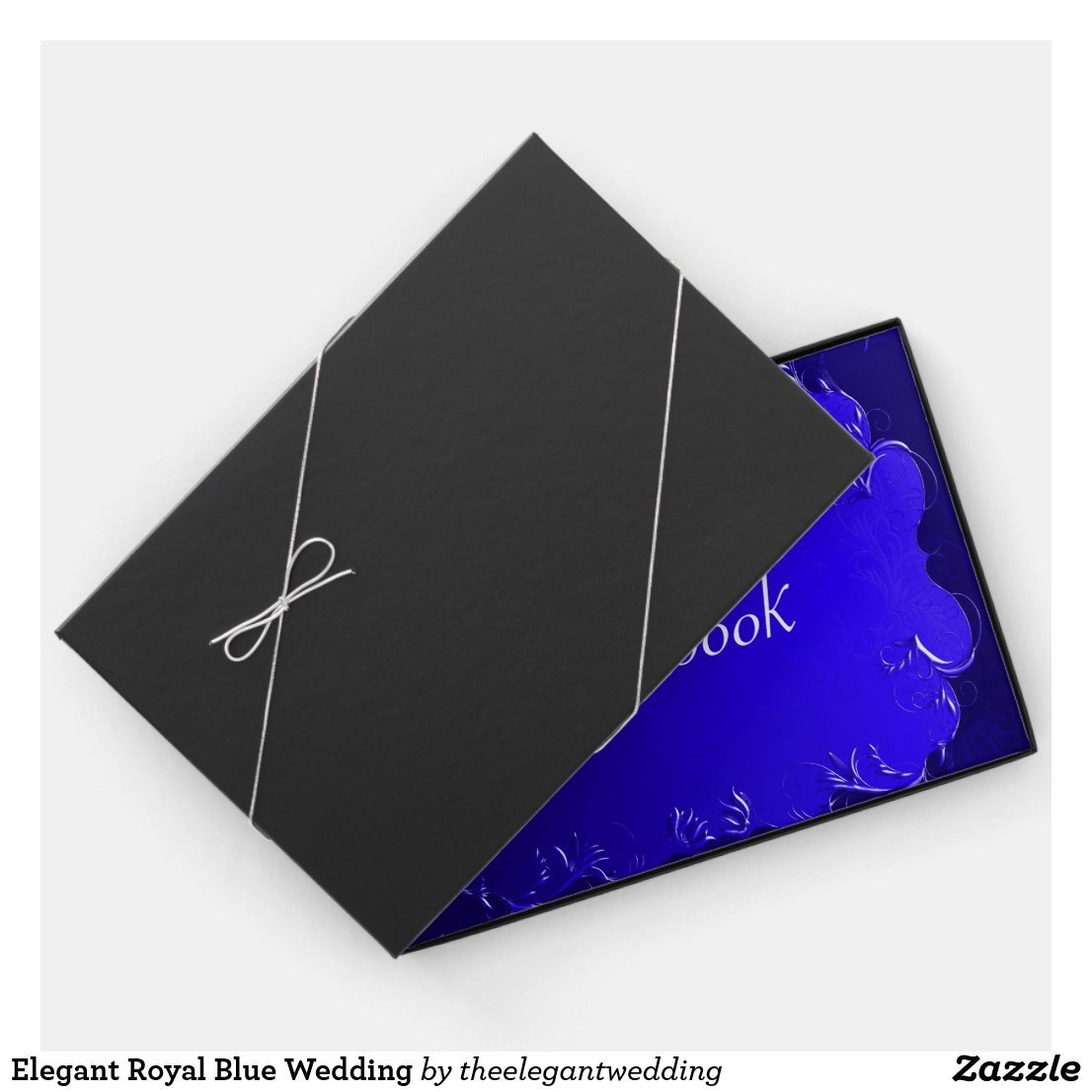 Elegant Royal Blue Wedding Guest Book