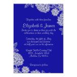Elegant Royal Blue Wedding Invitations