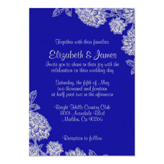 Elegant Royal Blue Wedding Invitations