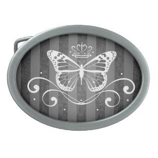 Elegant Royal Butterfly Oval Belt Buckle