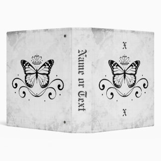 Elegant Royal Butterfly medium 3 Ring Binder