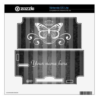 Elegant Royal Butterfly Skins For DS Lite