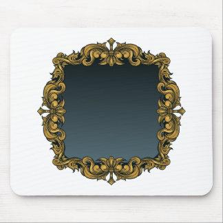 Elegant Royal Filigree Frame Background Mouse Pad
