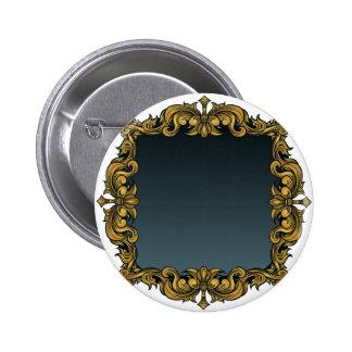 Elegant Royal Filigree Frame Background Pinback Button