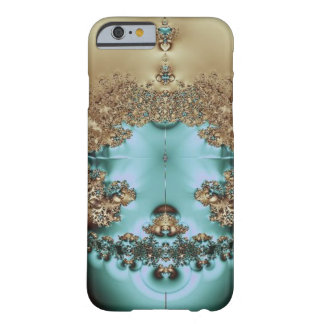 Elegant Royal Gold and Aqua Barely There iPhone 6 Case