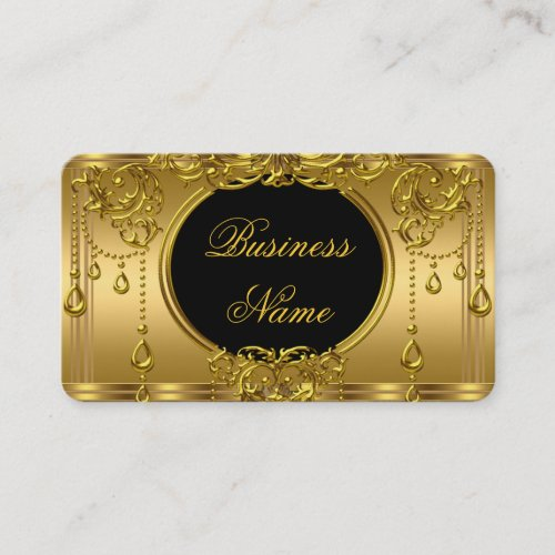 Elegant Royal Gold and Black Business Card