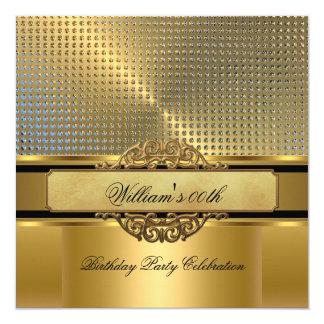 Elegant Royal Gold Birthday Party Men's Mans 2 Card