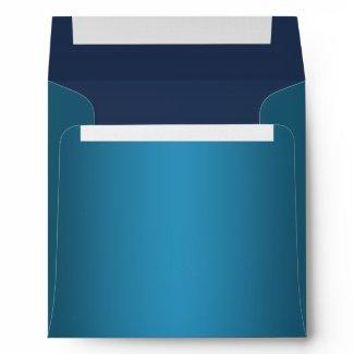 Elegant Royal Navy Blue Linen Envelopes