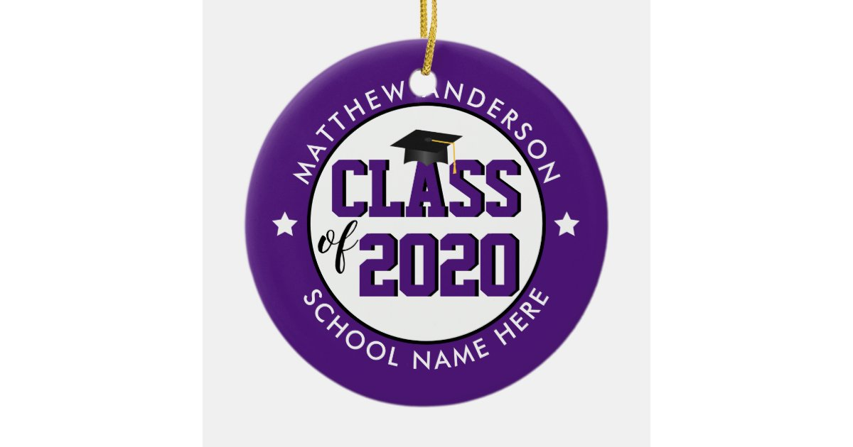 Elegant Royal Purple Class Of 2019 2020 Graduation Ceramic