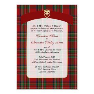 Elegant Royal Stewart Plaid Wedding Invitation