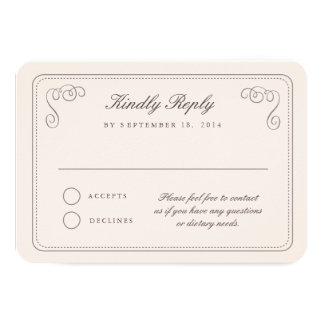 Elegant RSVP Card